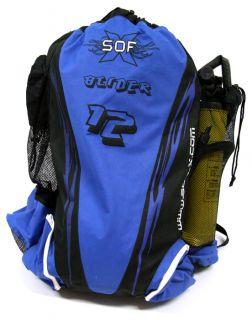 Glider Kiteboarding Parachute Kite 12 Meter Blue Plus Bag Pump