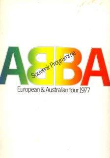 ABBA 1977 Knowing Me Knowing You Concert Tour Program Book