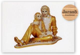 Jeff Koons Postcard Michael Jackson and Bubbles Sculpture