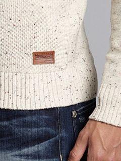 Jack & Jones Long sleeved Shawl Neck Sweater Cream