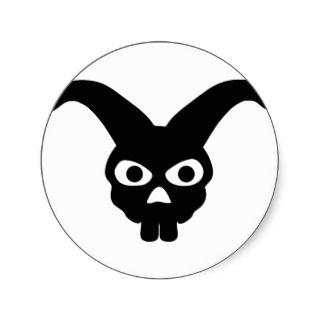 rabbit skull symbol sticker