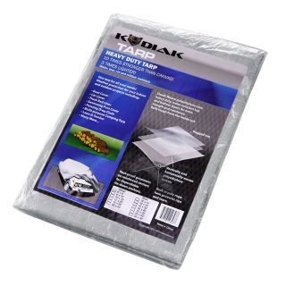 Kodiak Tarps Grey 8 x 10 Tarp Cover For Bikes, Motorcycles, Lawn