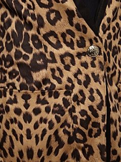 Jolie Moi Leopard print blazer jacket Brown