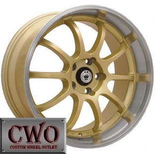 15 Gold Konig Lightning Wheels Rims 4x100 4 Lug Civic Mini G5 Cobalt