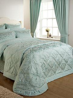 Christy Everett bedspread king sea green