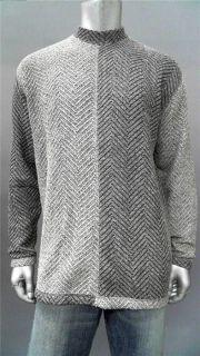 Koko Classic Mens L Comfort Pullover Sweater Gray Knit Top Designer