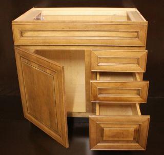 Kraftmaid Maple Bathroom Vanity Sink Base Cabinet 36 Granite Tops in