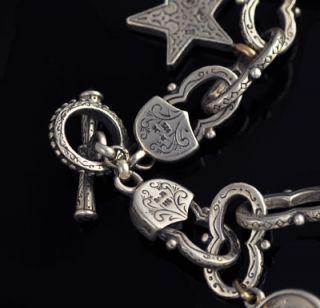 Konstantino Sterling Silver 18K Stone Charm Bracelet