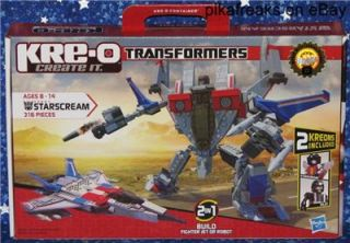 30667 Kreo Building System Starscream Transformers 2 in 1 Play Set w