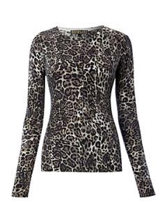 Biba Leopard printed cardigan Multi Coloured