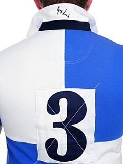 Raging Bull Harlequin rugby shirt Sky Blue