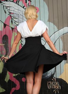 Clothing Rockabilly Pinup Retro Chic Swing Dress Black White S