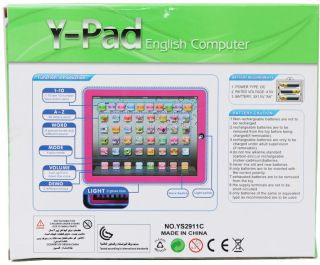 New Ypad iPad Toys Kids Boys Blue Laptop Computer Educational English