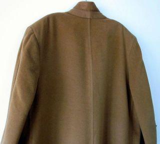 Vtg 1950s KNOX NY Camel 100% VICUNA Long DRESS COAT Jacket USA UNION