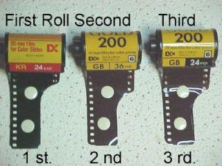Four Rolls 35 mm Film Kodak TMX135 36 100 Pro Film 60 Color Prints 24
