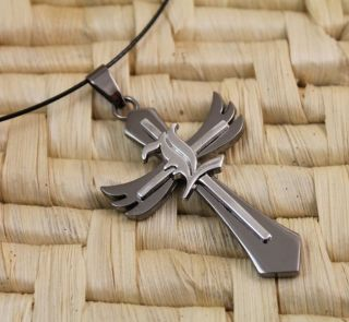 Death Note L Lawliett Black Silver Cross Anime Manga Pendant Cosplay