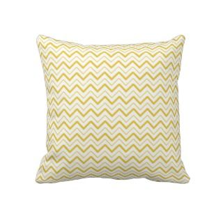 Yellow chevron zigzag stripes zig zag pattern pillows
