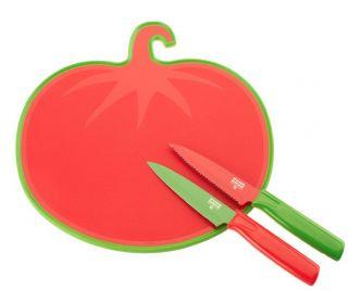 Kuhn Rikon Paring Knife Set with Tomato Cutting Board