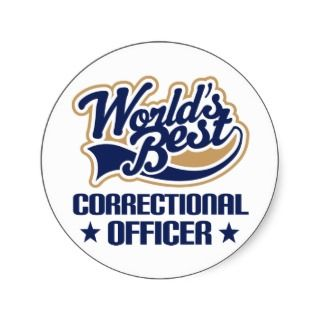 Correctional Officer Gift Round Stickers