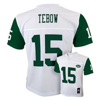 Tim Tebow New York Jets Kids Boys NFL Youth Jersey White Medium 10 12