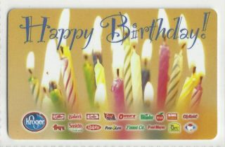 Kroger Grocery Collectible Gift Card Happy Birthday Buy 6 SHIP Free
