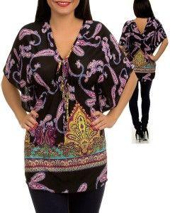 New Black Yellow Paisley Tunic Kimono Sleeve Top Blouse s M L