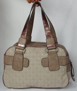 New Guess Kym Womens Stone Box Satchel Shoulder Bag Handbag