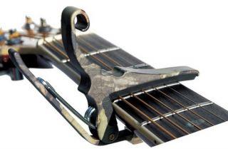 Kyser KG6C Quick Change Camo Clamp on Acoustic Guitar Capo, Camoflauge
