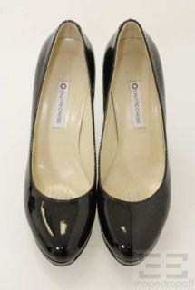 Autre Chose Black Leather Platform Pumps Size 38 5