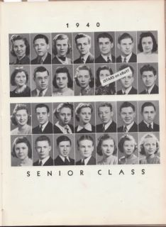 KURT VONNEGUT, FAMOUS AUTHOR, 1940 HIGH SCHOOL YEARBOOK PHOTOS