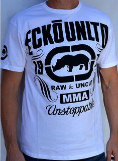 Ecko Unltd Unstoppable Mens Short Sleeve T Shirt MMA 90109 New White