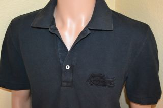 Lacoste Big Croc Logo Polo Shirt Mens Size 5 Large Stunning