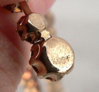 Vintage Signed Kramer Rhinestone Necklace Bracelet Golden A B Aurora