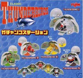 Set 5 Mini Diorama Thunderbirds Base Di Lancio Thunderbird 1 2 3 4 5