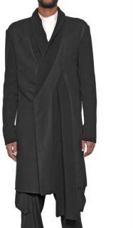 Kris Van Assche Wool Blend Felt and Knit Coat