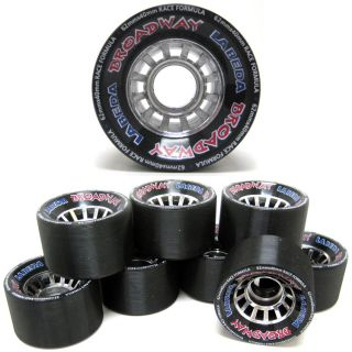 Labeda Broadway Black Quad Speed Roller Skate Wheels 8 Count Set