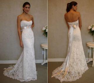 New Stock White Lace Wedding Dress Size 6 8 10 12 14 16