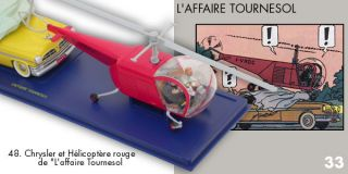 Voiture Tintin Car Atlas N° 47 48 Helicopter Bell Auto Truck Cars