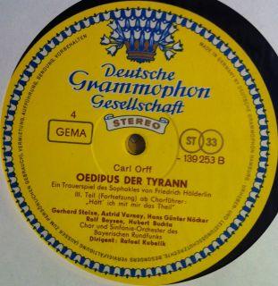 RAFAEL KUBELIK orff oedipus der tyrann 3 LP Mint  139 251/53 DGG Tulip