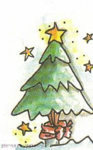 Inky Antics Rubber Stamp Christmas Pine Tree Holiday W
