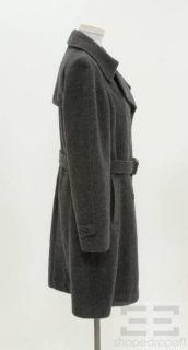 Kuna Charcoal Grey Alpaca Wool Double Breasted Coat Size 1