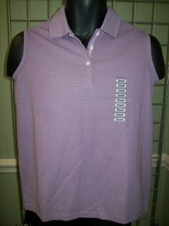 Greg Norman Ladies Purple Sleeveless Golf Polo Shirt Sz Small