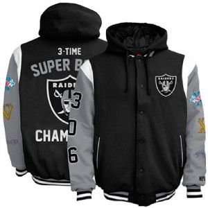 Oakland Raiders L Large Super Bowl Commemorative Jacket by G III