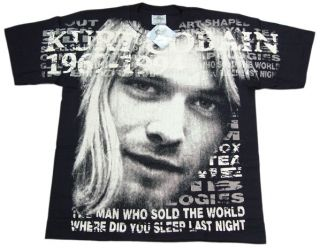 Vintage Kurt Cobain Nirvana Discharge T Shirt M 2XL
