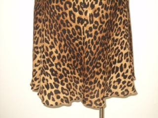 Jones New York Fall Black Brown Animal Print Flared Skirt 4P