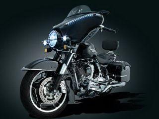 Kuryakyn 5029 Gloss Black Driving Lights for Harley Street Glide