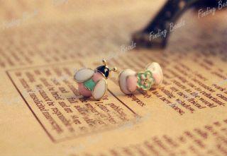 Fashion Cute Flower Birdie Ladybird Bow Bowknot Earrings Ear Studs
