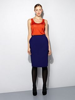 Pied a Terre Pocket detail pencil skirt Blue