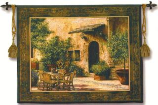La Villa Borghese Tapestry Wall Hanging Tuscan Village