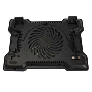 New 17 One Fan USB Notebook Laptop Cooling Cooler Pad Black